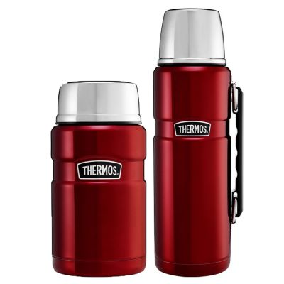 STAINLESS KING™ FOOD FLASK  / 1.2L FLASK SET