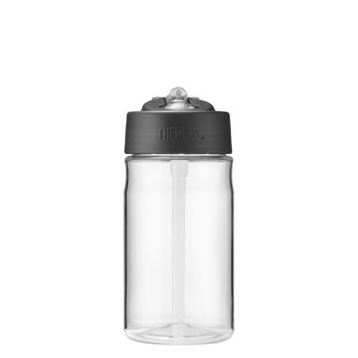 Hydration Bottle with Straw 355ml-Clear