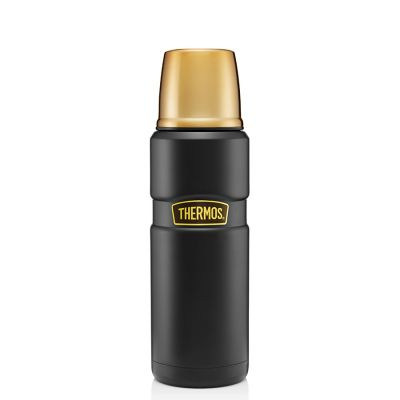 Stainless King™ Flask 470ml-Matt Black & Gold