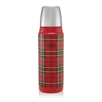 Retro Series Flask 470ml-Tartan Red